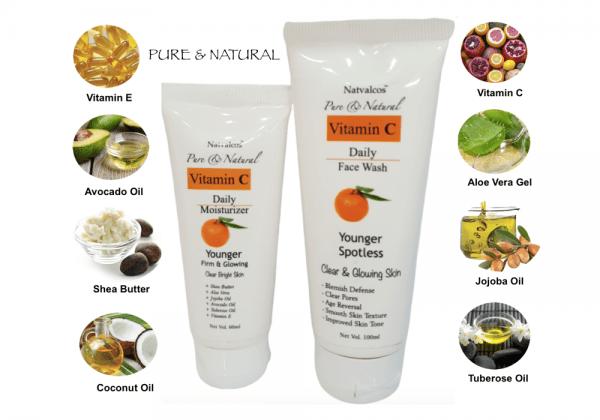 Natvalcos facewash&moisturizer combo